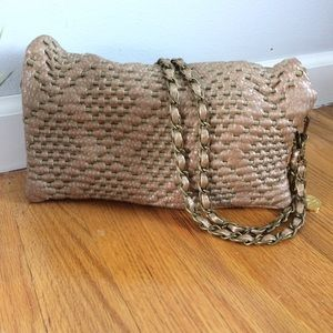 Big Buddha Leather Chain Shoulder Bag Purse